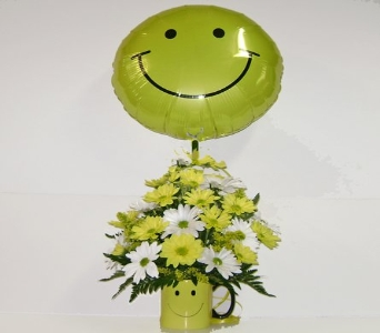 Smiley Face Mug w/ Balloon in Herndon VA, Herndon Florist, Inc