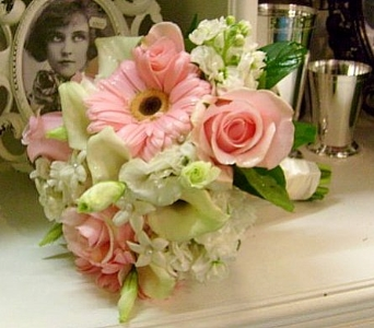 Gathered Bouquet of Pinks and Whites in Nashville TN, The Bellevue Florist