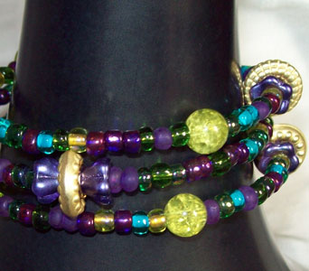 Peacock Bangle Bracelet in Lawrence KS, Englewood Florist
