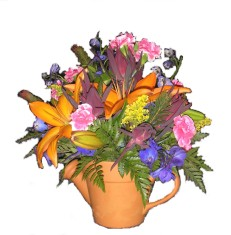 All About Orange Bouquet in Lake Charles LA, A Daisy A Day Flowers & Gifts, Inc.