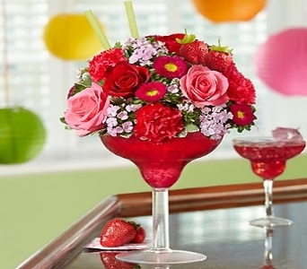 Strawberry Floral Margarita in Yelm WA, Yelm Floral
