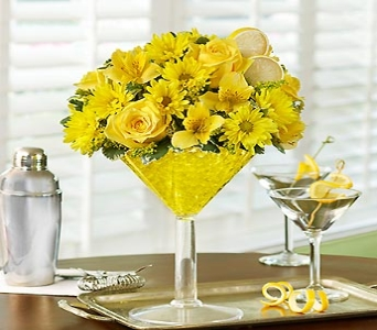 Lemon Martini Bouquet in Yelm WA, Yelm Floral