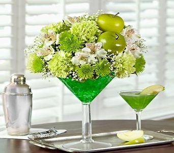 Apple Martini Bouquet in Yelm WA, Yelm Floral
