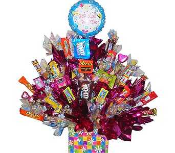CB100 ''A Daisy A Day'' Candy Bouquet in Oklahoma City OK, Array of Flowers & Gifts