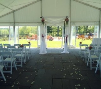 Decorated Huppah in Saratoga Springs NY, Dehn's Flowers & Greenhouses, Inc