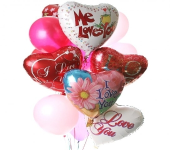 I love You Balloon Bouquet in El Paso TX, Kern Place Florist