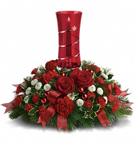 Teleflora's Star Bright Centerpiece in Martinsburg WV, Bells And Bows Florist & Gift