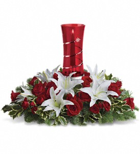 Teleflora's Wondrous Night Centerpiece in Liverpool NY, Creative Florist