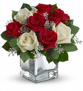 Teleflora's Snowy Night Bouquet in Herndon VA, Bundle of Roses
