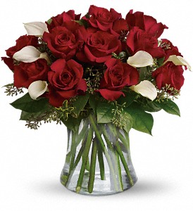 Be Still My Heart - Dozen Red Roses in Dubuque IA, New White Florist