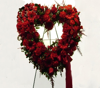 Red Garden Open Heart in Herndon VA, Herndon Florist, Inc