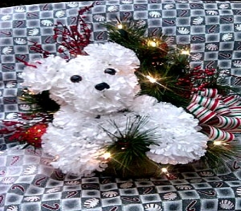 Christmas Puppy in Bedford IN, West End Flower Shop