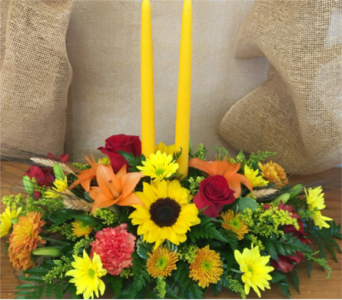 Autumn Glow Centerpiece in Port St Lucie FL, Flowers By Susan