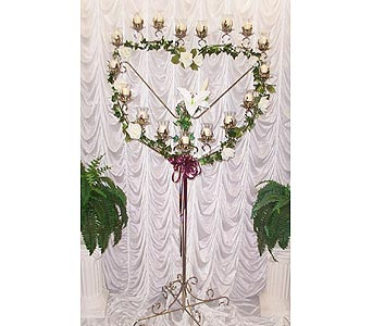 Silver Heart Candelabra in Grand Island NE, Roses For You!