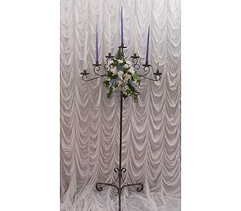 Pewter 7 Branch Candelabra in Grand Island NE, Roses For You!
