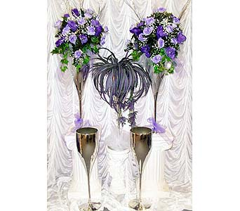 Silver Champagne Flutes in Grand Island NE, Roses For You!