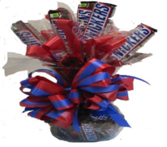 Sweatheart Candy Bouquet (Snickers) in Columbus OH, OSUFLOWERS .COM