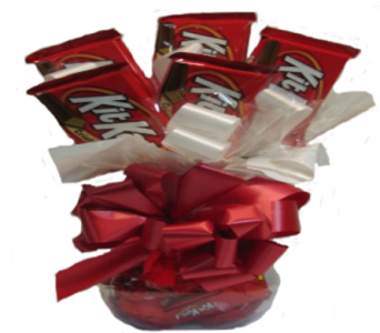 Sweetheart Candy Bouquet  (Kit Kat) in Columbus OH, OSUFLOWERS .COM