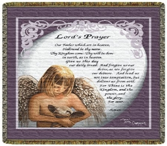 Lord''s Prayer with Angel Tapestry Throw in Columbus OH, OSUFLOWERS .COM