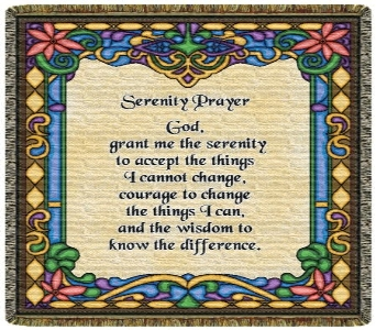 Serenity Prayer Throw Tapestry in Columbus OH, OSUFLOWERS .COM