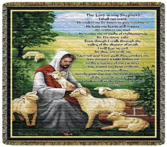 The Lord is my Shepherd Throw Tapestry in Columbus OH, OSUFLOWERS .COM