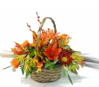 Classic Fall Basket in Amherst NY, The Trillium's Courtyard Florist