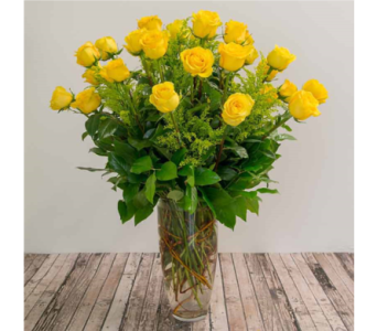 Two Dozen Yellow Roses in Houston TX, The Empty Vase of Houston