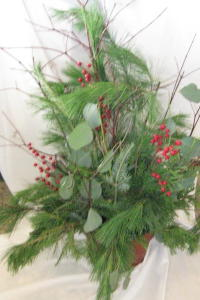 Winter Green Planters in Waukegan IL, Larsen Florist