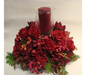 Romantic Reds in Victoria BC, Fine Floral Designs