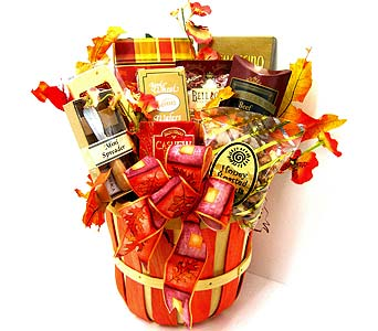 """Country Harvest""  Gourmet Food Basket in Oklahoma City OK, Array of Flowers & Gifts"