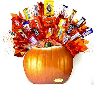 PUMPKINCB ''Candy filled Pumpkin'' Candy Bouquet in Oklahoma City OK, Array of Flowers & Gifts