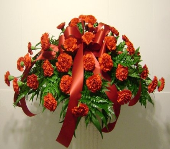 Red Carnation Cover Spray in Herndon VA, Herndon Florist, Inc