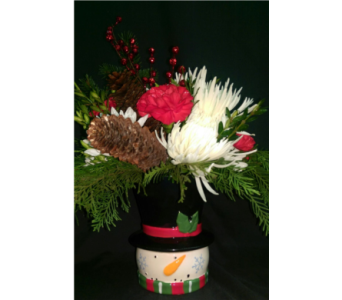 M & W''s  Yuletide Greetings Bouquet in Chatham VA, M & W Flower Shop