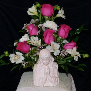 Madonna Arrangement in Thorold ON, A Yellow Flower Basket