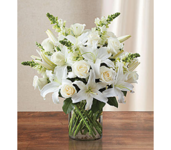 Classic All-White Arrangement LG in Palm Desert CA, Milan's Flowers & Gifts