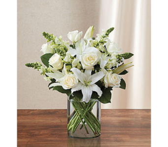 Classic All-White Arrangement  SM in Palm Desert CA, Milan's Flowers & Gifts