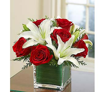 Christmas Rose and Lily Bouquet MD in Palm Desert CA, Milan's Flowers & Gifts