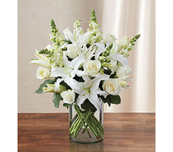 Classic All-White Arrangement MD in Palm Desert CA, Milan's Flowers & Gifts