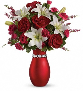 Teleflora's XOXO Bouquet with Red Roses in San Diego CA, Eden Flowers & Gifts Inc.