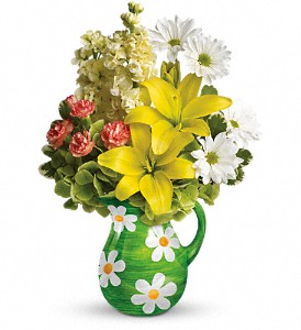 Teleflora's Pitcher of Spring Bouquet in Chicago IL, Yera's Lake View Florist