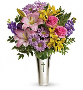 Teleflora's Silver Cross Bouquet in Yonkers NY, Beautiful Blooms Florist