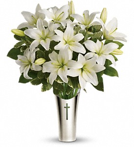 Teleflora's Sacred Cross Bouquet in Pompano Beach FL, Pompano Flowers 'N Things