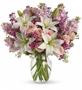Teleflora's Blossoming Romance in Dubuque IA, New White Florist