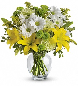 Teleflora's Brightly Blooming in Hoboken NJ, All Occasions Flowers