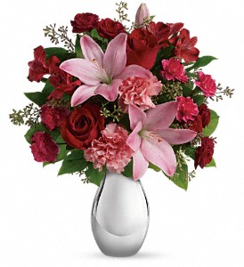 Teleflora's Moonlight Kiss Bouquet in Grand Island NE, Roses For You!
