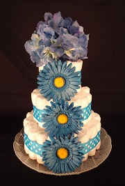3 Tier Diaper Cake in Roselle IL, Roselle Flowers