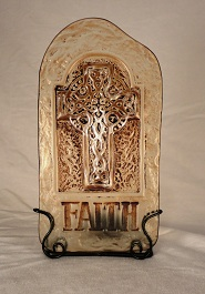 Faith Candle Holder in Roselle IL, Roselle Flowers