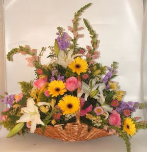 Natural Wonder Fireside Basket in Salisbury MD, Kitty's Flowers