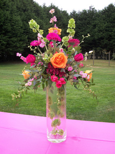 Colorful Centerpiece in Arcata CA, Country Living Florist & Fine Gifts
