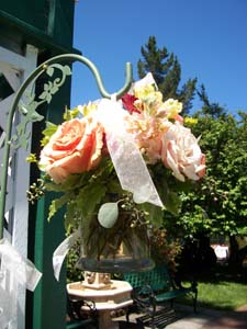 Shepherds Hook Hanging Arrangement in Arcata CA, Country Living Florist & Fine Gifts